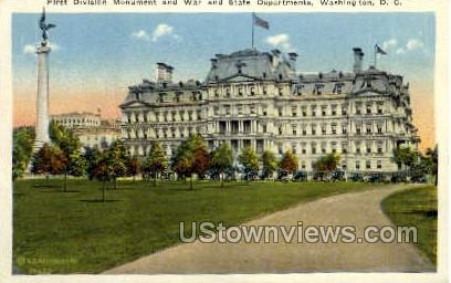 First Division Monument - District Of Columbia Postcards, District of Columbia DC Postcard