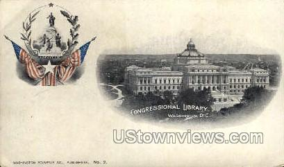 Congressional Library - District Of Columbia Postcards, District of Columbia DC Postcard