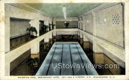 Swimming Pool, Ambassador Hotel - District Of Columbia Postcards, District of Columbia DC Postcard