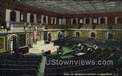 Hall of Representatives - District Of Columbia Postcards, District of Columbia DC Postcard