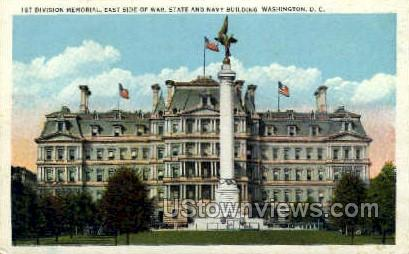 First Division Monumen - District Of Columbia Postcards, District of Columbia DC Postcard