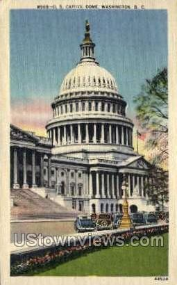 U.S. Capitol Dome - District Of Columbia Postcards, District of Columbia DC Postcard