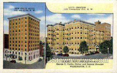 Hotel Grafton - District Of Columbia Postcards, District of Columbia DC Postcard