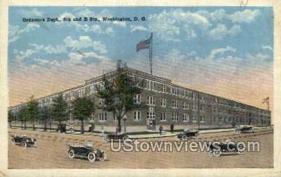 Ordnance Dept. - District Of Columbia Postcards, District of Columbia DC Postcard