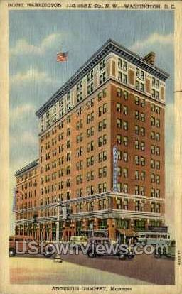 Hotel Harrington - District Of Columbia Postcards, District of Columbia DC Postcard
