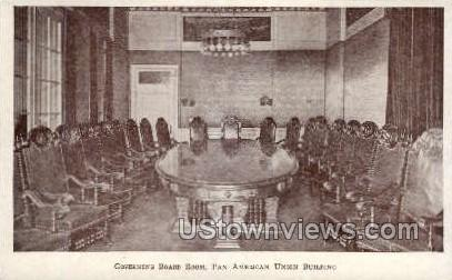 Governing Board Room, Pan American Union - District Of Columbia Postcards, District of Columbia DC Postcard