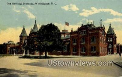 Old National Museum - District Of Columbia Postcards, District of Columbia DC Postcard