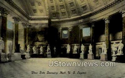 West Side Statuary Hall, U.S. Capitol - District Of Columbia Postcards, District of Columbia DC Postcard