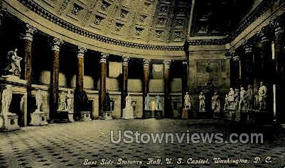 East Side Statuary Hall, U.S. Capitol - District Of Columbia Postcards, District of Columbia DC Postcard