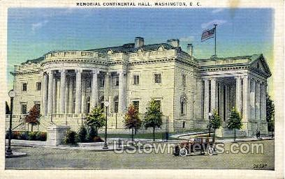 Memorial Continental Hall - District Of Columbia Postcards, District of Columbia DC Postcard