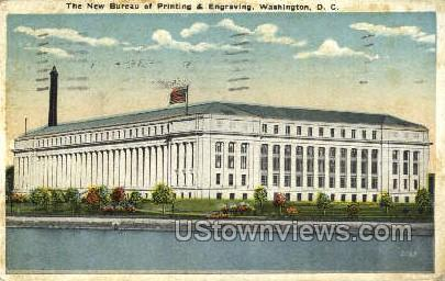 Bureau of Printing and Engraving - District Of Columbia Postcards, District of Columbia DC Postcard