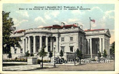 Continental Memorial Hall - District Of Columbia Postcards, District of Columbia DC Postcard