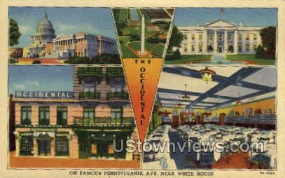 The Occidental - District Of Columbia Postcards, District of Columbia DC Postcard
