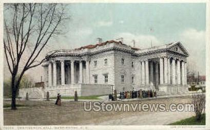 Continental Hall - District Of Columbia Postcards, District of Columbia DC Postcard