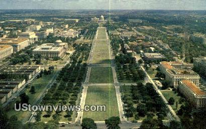 The Mall, Capitol - District Of Columbia Postcards, District of Columbia DC Postcard