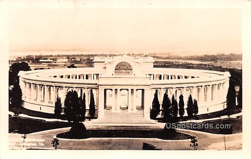 Memorial Amphitheater - Arlington, District of Columbia DC Postcard
