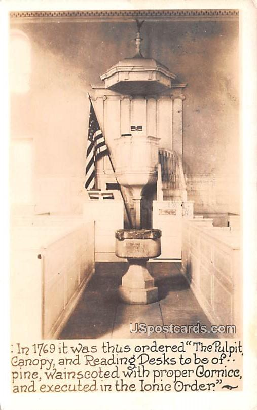 Pulpit Canopy and Reading Desk - Washington, District of Columbia DC Postcard