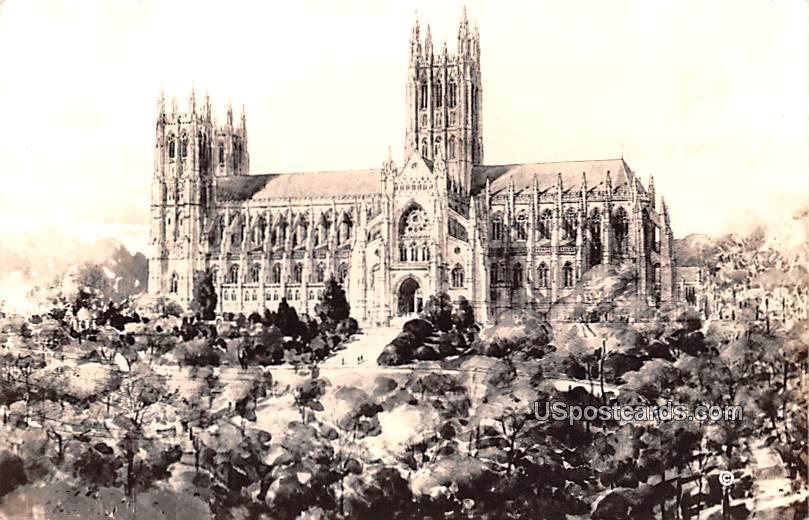Washington Cathedral - District of Columbia DC Postcard