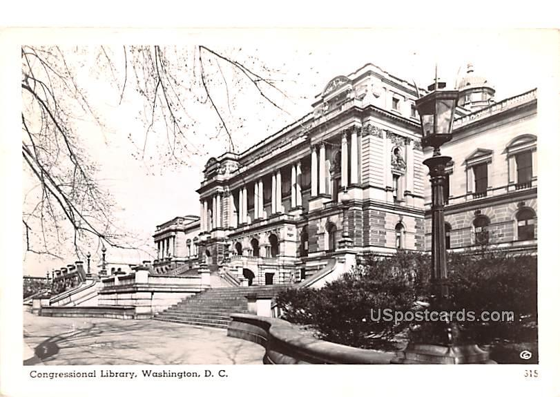 Congressional Library - Washington, District of Columbia DC Postcard