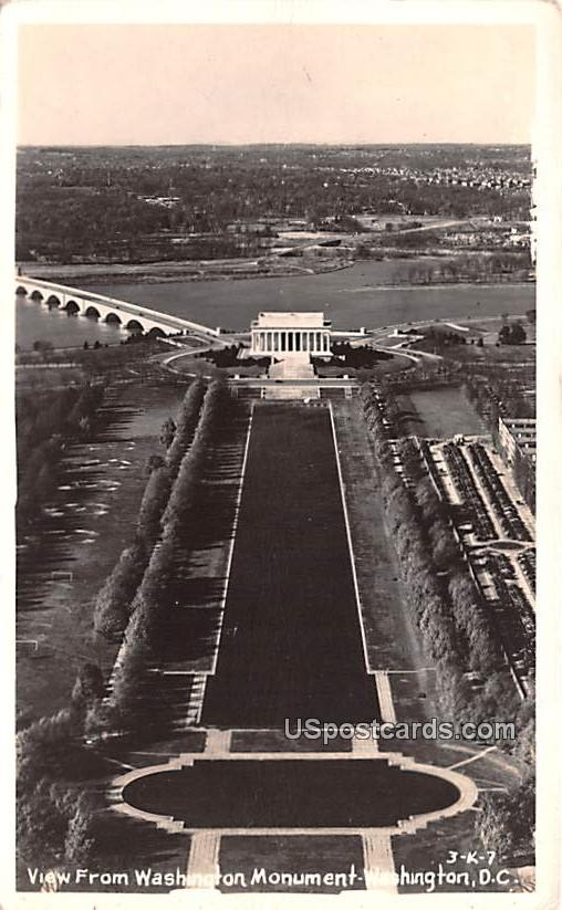 View from Washington Monument - District of Columbia DC Postcard
