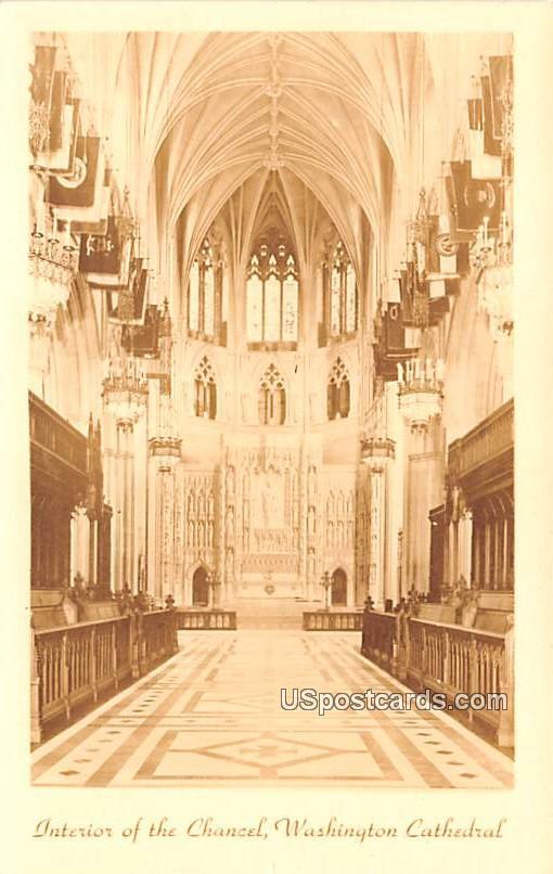 Interior of the Chancel - Washington, District of Columbia DC Postcard