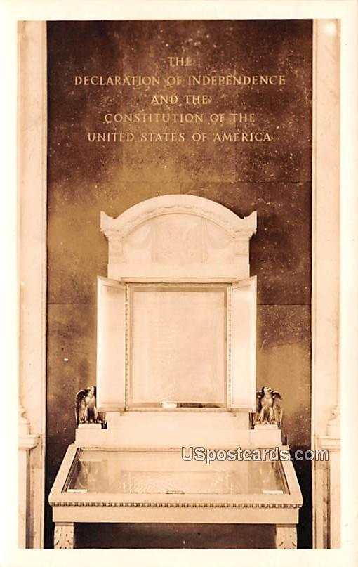 Declaration of Independence and Constitution of the United States of America - Washington, District of Columbia DC Postcard