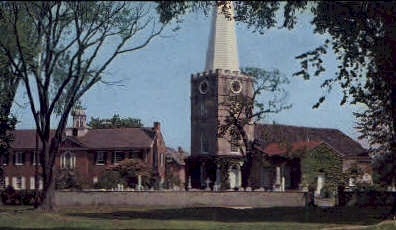 Immanuel Church - New Castle, Delaware DE Postcard