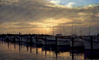 Indian River Yacht Basin - Rehoboth Beach, Delaware DE Postcard