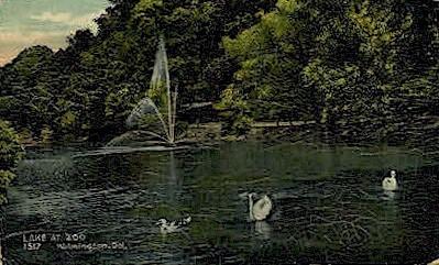 Lake at Zoo - Wilmington, Delaware DE Postcard