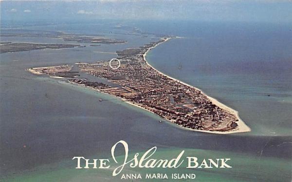 The Island Bank Anna Maria Island, Florida Postcard