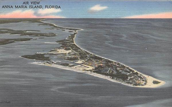 Air View Anna Maria Island, FL, USA Florida Postcard