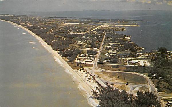 Manatee Public Beach Casino on the Gulf of Mexico Anna Maria Island, Florida Postcard