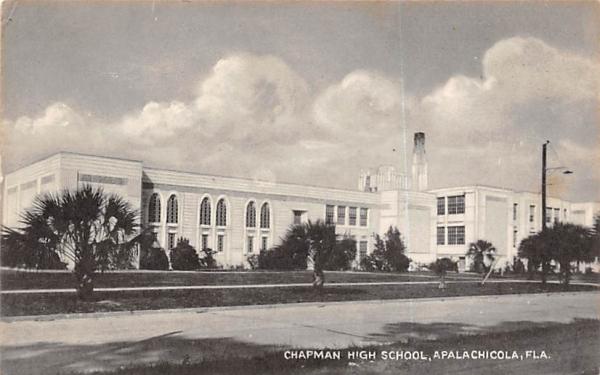 Chapman High School Apalachicola, Florida Postcard
