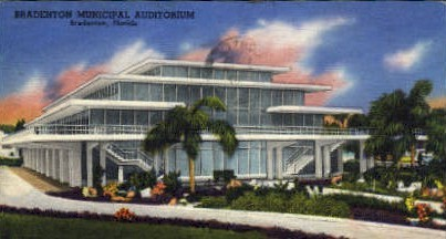 Municipal Auditorium - Bradenton, Florida FL Postcard
