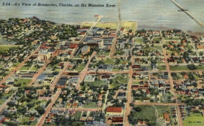 Air View - Bradenton, Florida FL Postcard