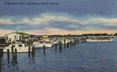 Fisherman's Pier - Bradenton, Florida FL Postcard