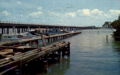 New Bridge - Bradenton, Florida FL Postcard