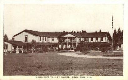 Brighton Valley Hotel - Florida FL Postcard