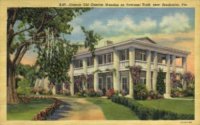 Old Gamble Mansion - Bradenton, Florida FL Postcard