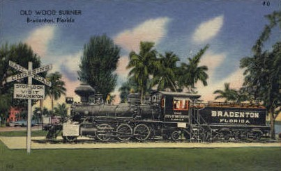 Old Wood Burner - Bradenton, Florida FL Postcard