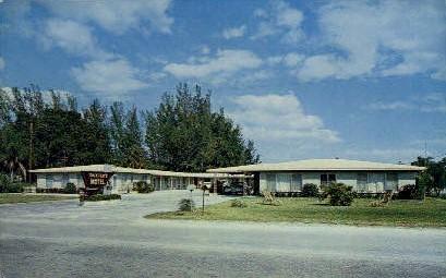 Baxter's Motel - Bradenton, Florida FL Postcard
