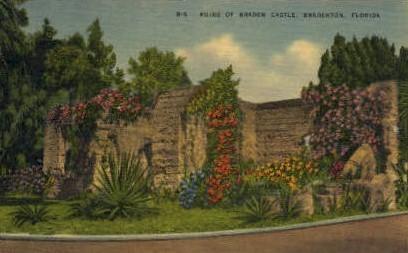 Braden Castle - Bradenton, Florida FL Postcard