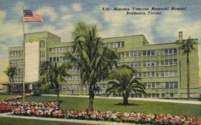 Manatee Veterans Hospital - Bradenton, Florida FL Postcard