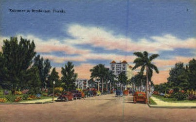 Entrance - Bradenton, Florida FL Postcard