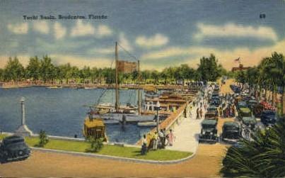 Yacht Basin - Bradenton, Florida FL Postcard