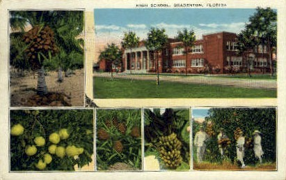 High School - Bradenton, Florida FL Postcard