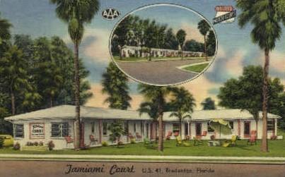 Jamiami Court - Bradenton, Florida FL Postcard