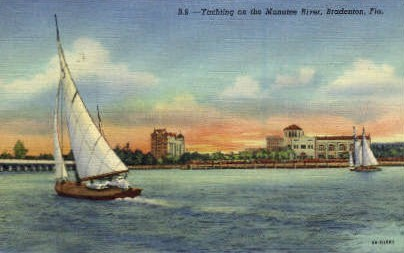Yachting - Bradenton, Florida FL Postcard