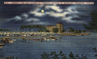 Memorial Pier - Bradenton, Florida FL Postcard