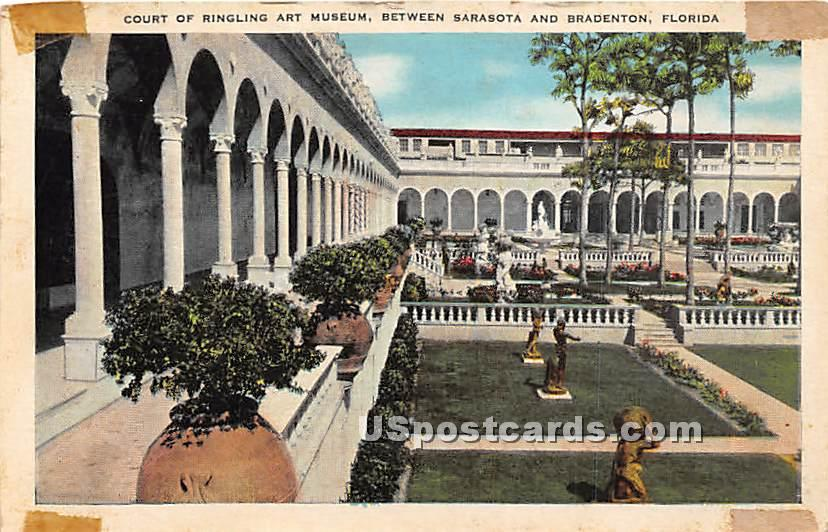 Court of Ringling Art Museum - Bradenton, Florida FL Postcard